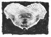 "Surface 2, drypoint and monprint, one of one, 12""x18"", 2013, 150.00"