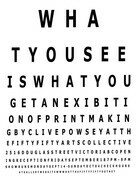 What You See Is What You Get poster for exhibition, digital on bristol board stock, 8.5x11in.